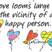 Love Looms Large Art Print
