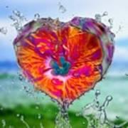 Love Makes A Splash Art Print