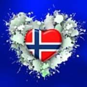 Love Norway 2 Art Print