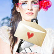 Love Note Delivery From The Heart Art Print