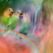 Love On A Rainbow Art Print by Carol Cavalaris