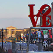 Love Park And The Parkway In Philadelphia Art Print