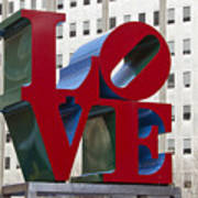 Love Park In Center City - Philadelphia Art Print by Brendan Reals