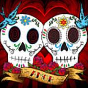 Love Skulls Art Print by Tammy Wetzel