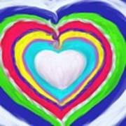 Love Surrounds Love Surrounds Love Art Print
