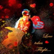 Love Takes Flight Art Print