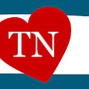 Love Tennessee White Art Print