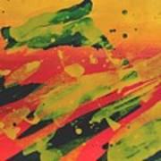Love Those Diagonals - Yellow 1 Art Print