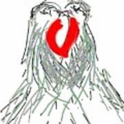 Lovebirds Art Print