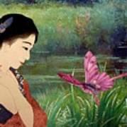 Loved By Butterflies Art Print
