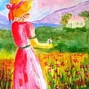 Lovely Lady Landscape Art Print
