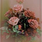 Lovely Rustic Rose Bouquet Art Print