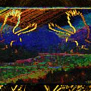 Lovers Dancing In The Golden Light Of Dawn Art Print