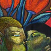 Lovers Kiss Art Print