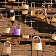 Lovers Locks 2 Art Print