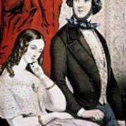 Lovers Quarrel, 1846 Art Print