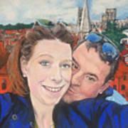 Lovers Selfie In York, England Art Print
