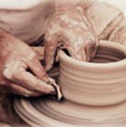 Loving Hands Creation Art Print