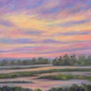 Low Country Marsh Sunset Art Print