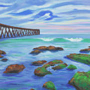 Low Tide At Haskell's Beach Art Print