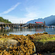 Low Tide At Horseshoe Bay Canada On A Sunny Day Art Print