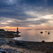 Low Tide At Salem's Lighthouse Art Print