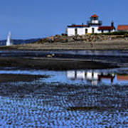 Low Tide At The Lighthouse Art Print