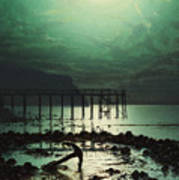Low Tide By Moonlight Art Print