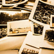 Lowdown On A Vintage Photo Collections Art Print