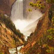 Lower Falls From Artists Viewpoint Art Print