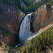 Lower Falls Of Yellowstone River Art Print