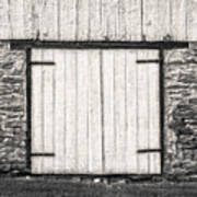 Lower Level Door To An 1803 Amish Corn Barn  -  1803cornbarnblwh172868 Art Print