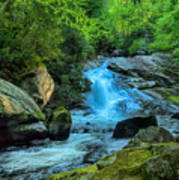 Lower Lynn Camp Falls Smoky Mountains Art Print
