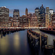 Lower Manhattan Skyline Print by Eduard Moldoveanu