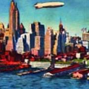 Lower Manhattan Skyline New York City Art Print