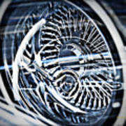 Lowrider Wheel Illusions 1 Art Print