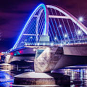 Lowry Bridge @ Night Art Print