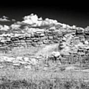 Lowry Pueblo Ruin Black And White Art Print