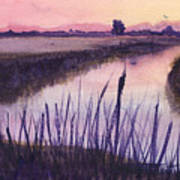 Loxahatchee Sunset Art Print