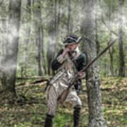 Loyalist Skirmisher  American Revolution Art Print by Randy Steele