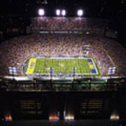 Lsu Aerial View Of Tiger Stadium Art Print