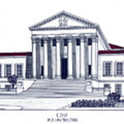 LSU Old Law Building Art Print
