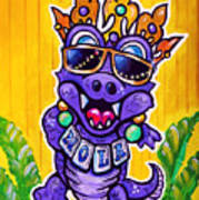 Lt Aka Nola Gator Art Print by Terry J Marks Sr