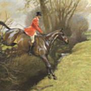 Lt Col Ted Lyon Jumping A Hedge Art Print