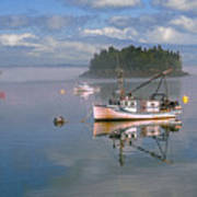 Lubec Waterfront Art Print