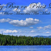 Luby Bay On Priest Lake Art Print