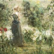 Luca Postiglione Napoli 1876 - 1936 The White Fleurs-de-lis Art Print