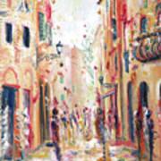 Lucca Street Art Print