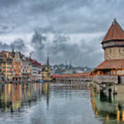 Lucerne Chapel Bridge Art Print