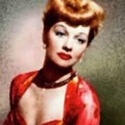Lucille Ball, Vintage Actress Art Print